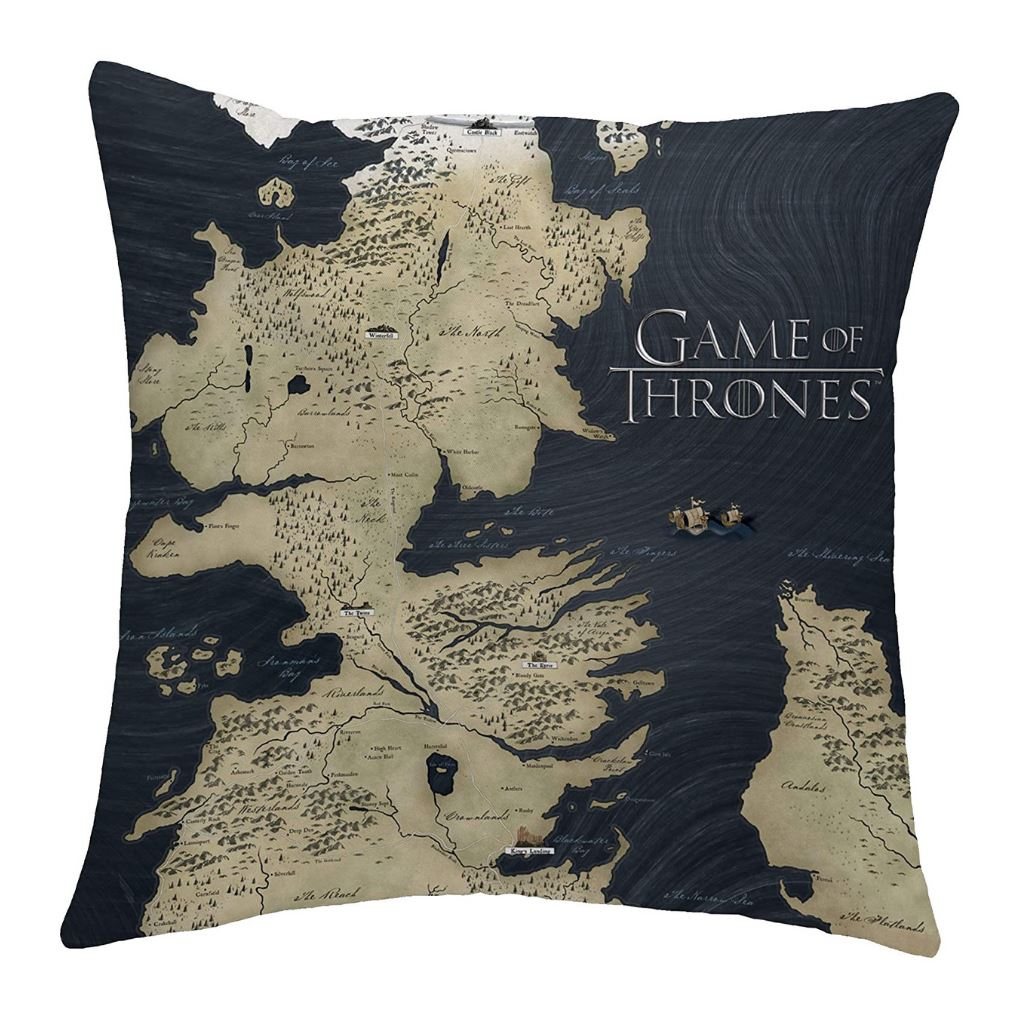 Game of Thrones Cushion | Map of Westeros Cushion Game of Thrones