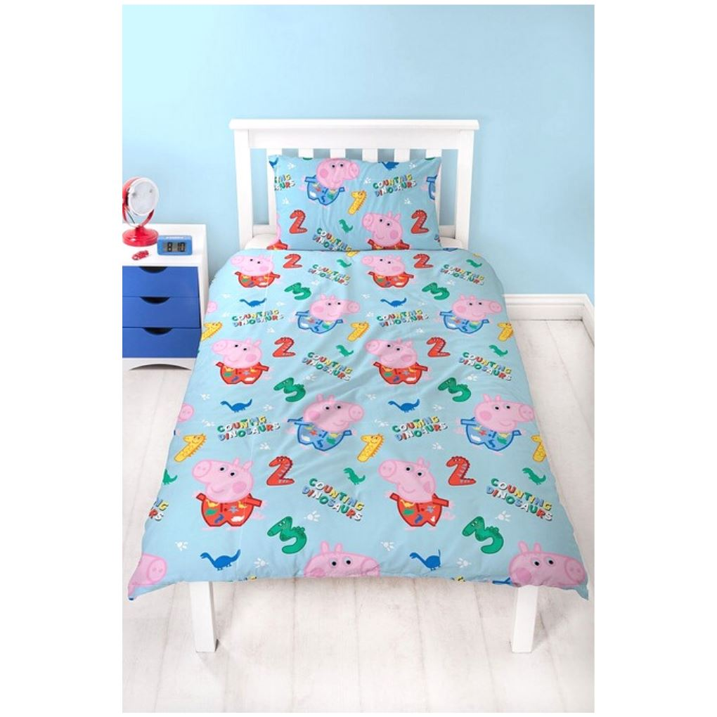 George Pig Single Bedding | Counting Dinosaurs Bedding George Pig