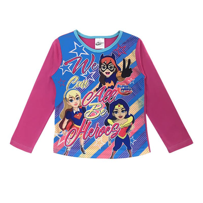 Girls DC Superhero Pyjamas Girls Pyjamas Cool Clobber Limited