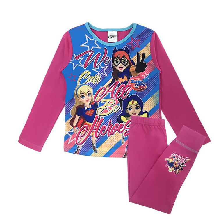 Girls DC Superhero Pyjamas