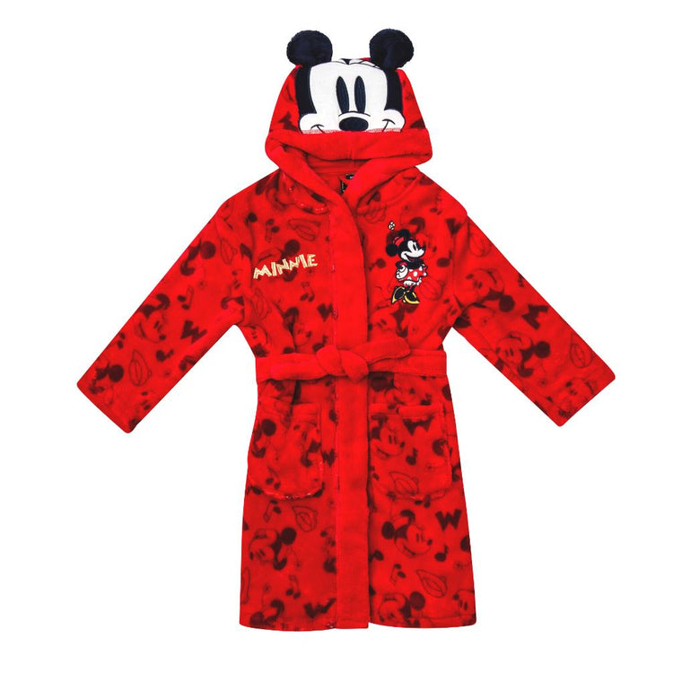 Girls Disney Minnie Mouse Dressing Gown