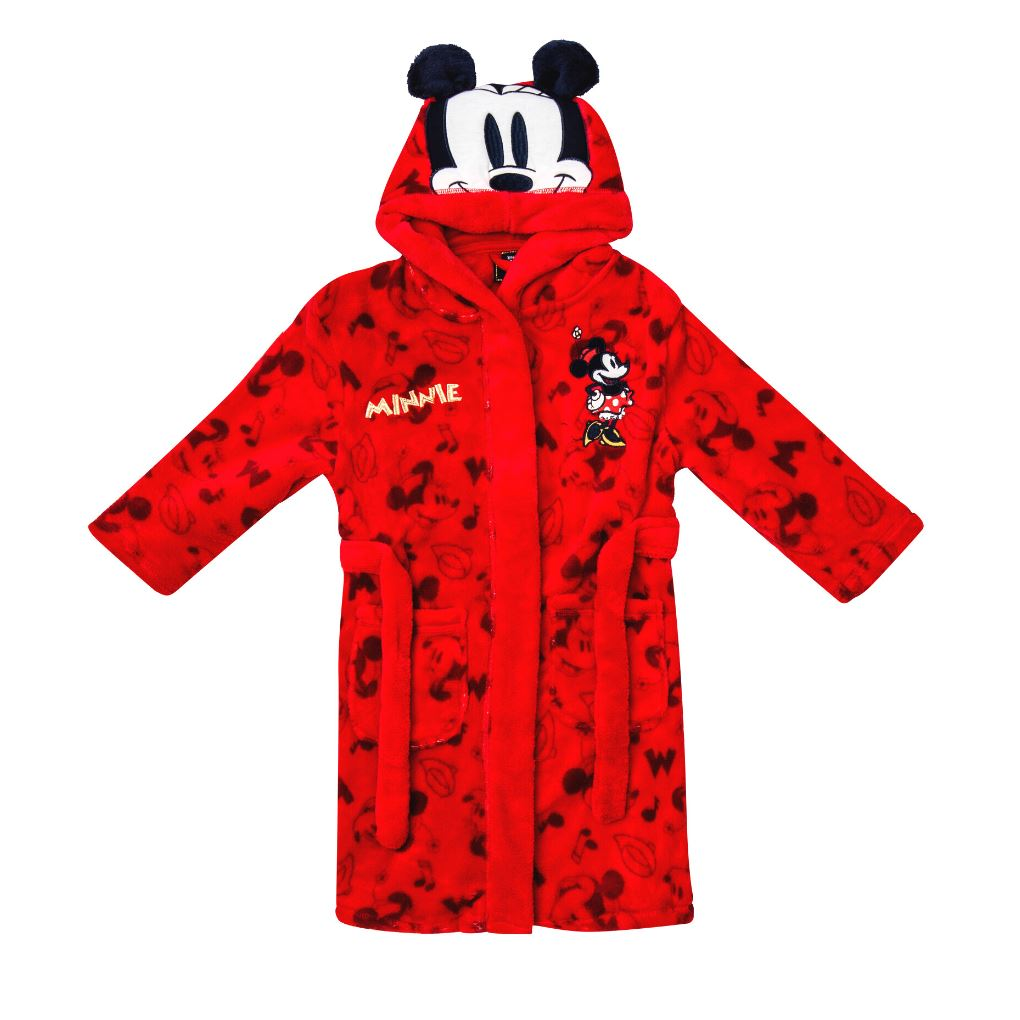 Girls Disney Minnie Mouse Dressing Gown Girls Pyjamas Disney