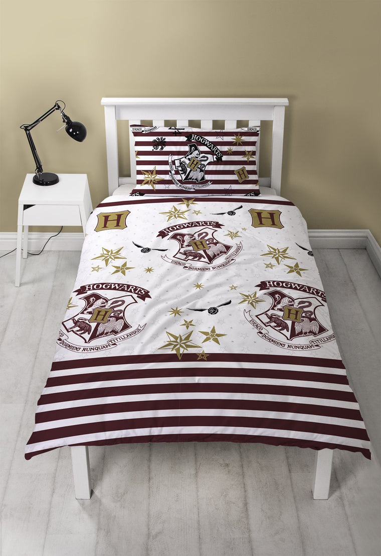 Harry Potter Single Bedding | Striped