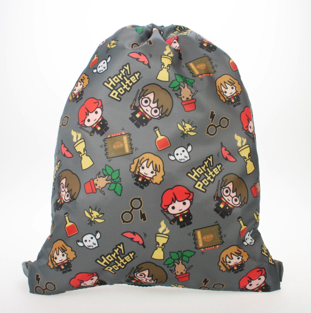 Harry Potter Drawstring Bag | Grey Chibi Backpack Cool Clobber Limited