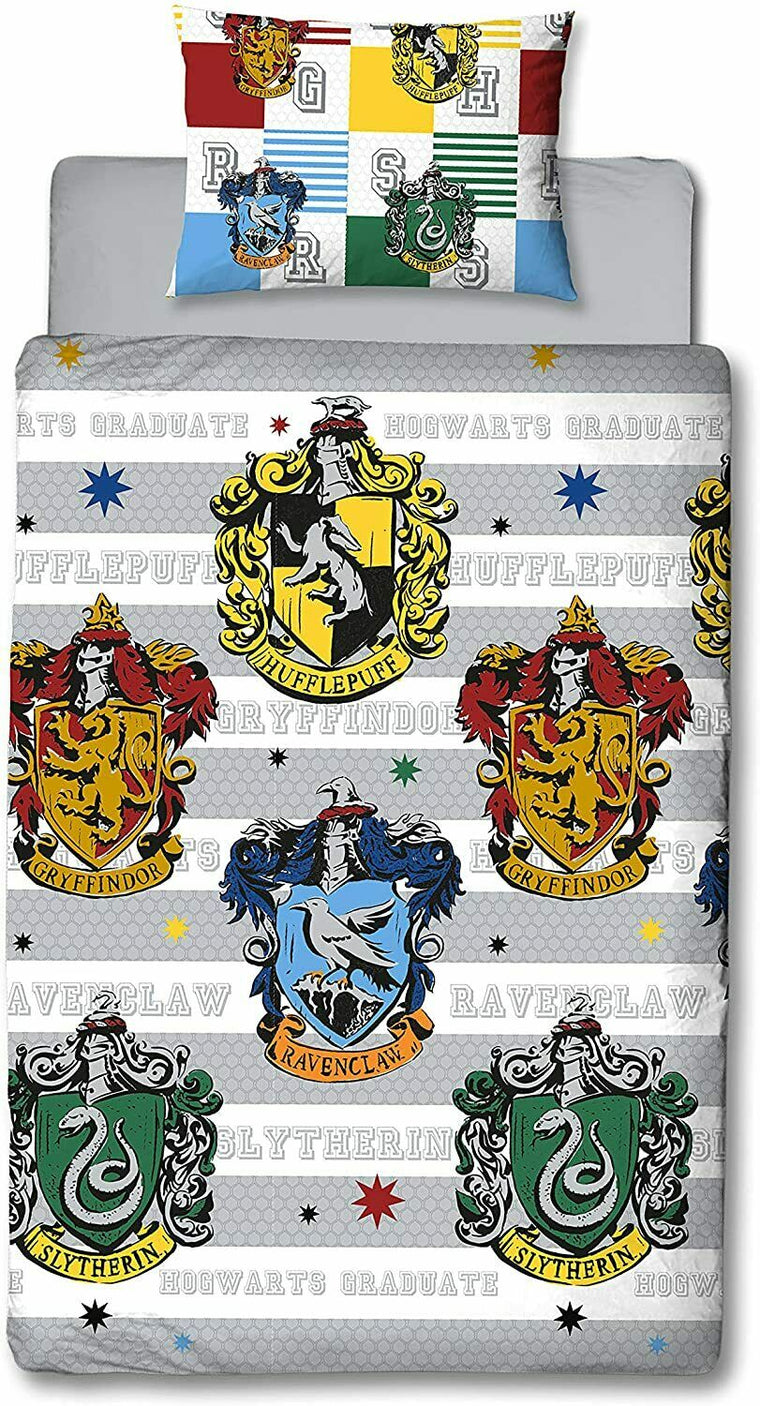 Harry Potter Single Bedding | Hogwarts House Crest