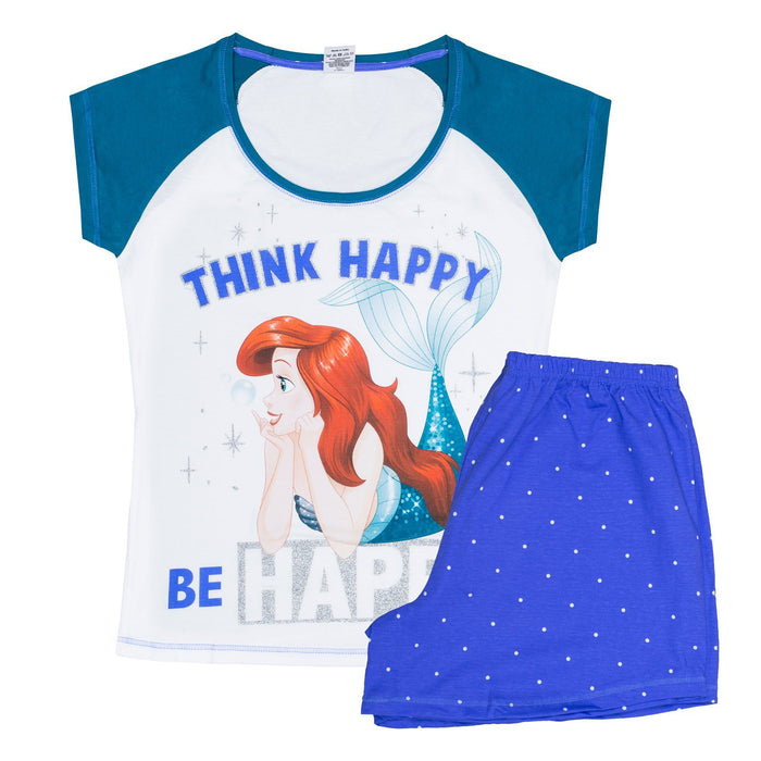 Little Mermaid Pyjamas Ladies Womens Nightwear Disney