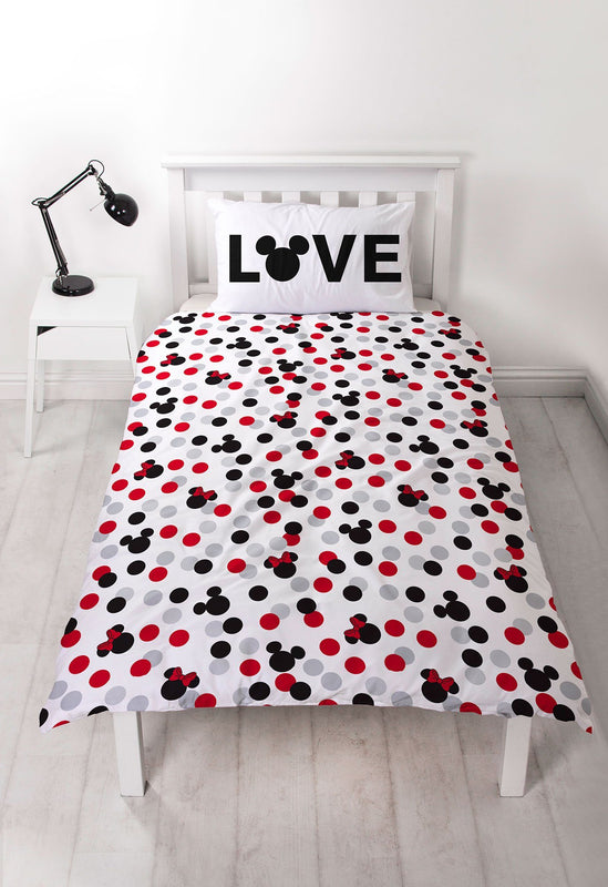 Mickey and Minnie Mouse Single Bedding Bedding Disney