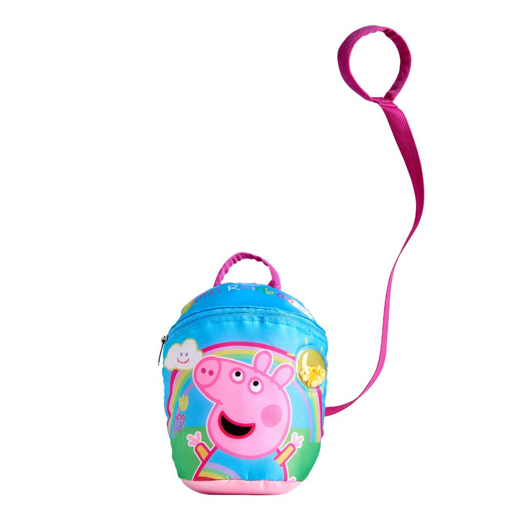 Peppa Pig Backpack with Reins | Rainbow Backpack Cool Clobber Limited