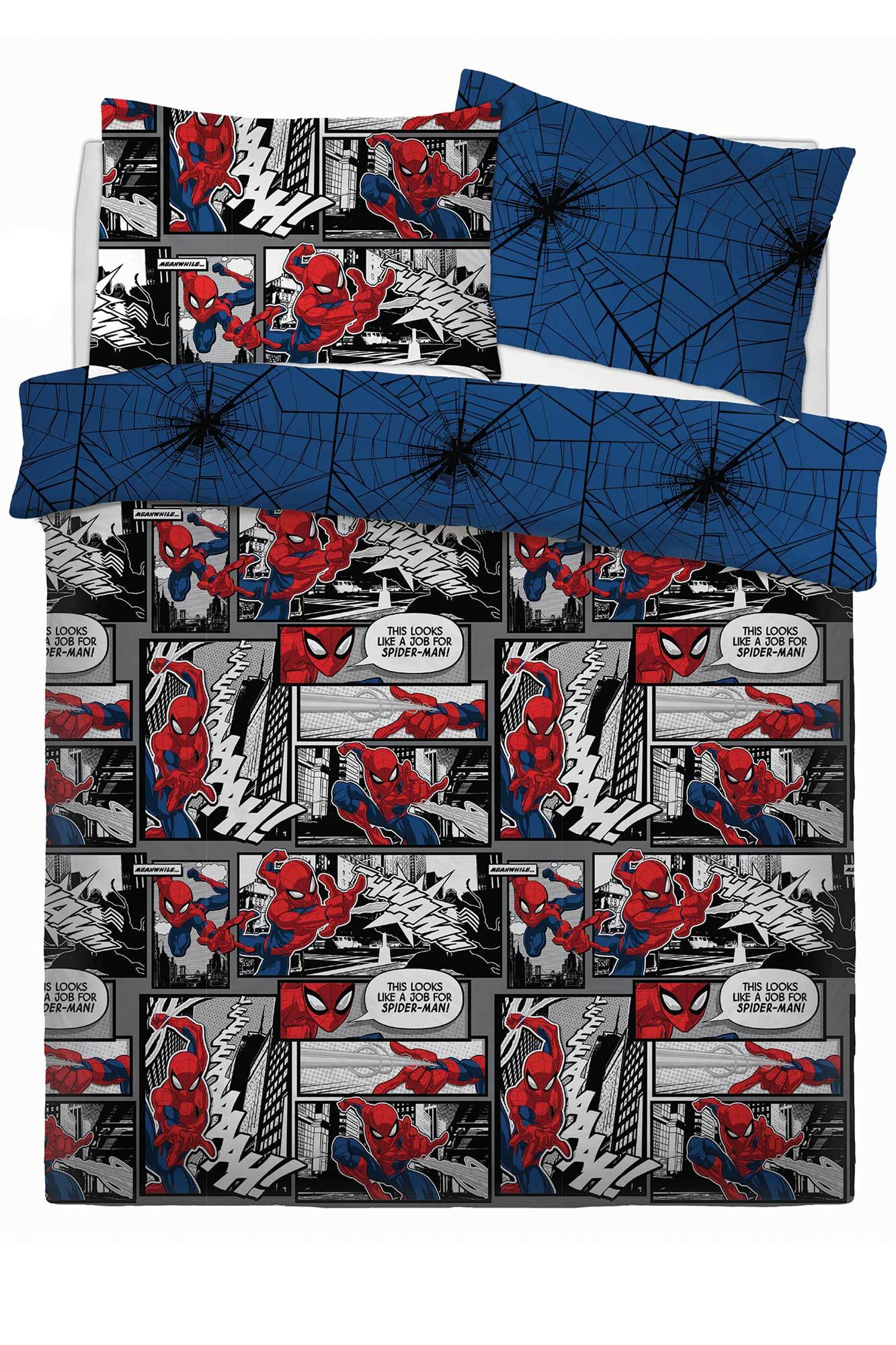 Spiderman Double Bedding Bedding Cool Clobber