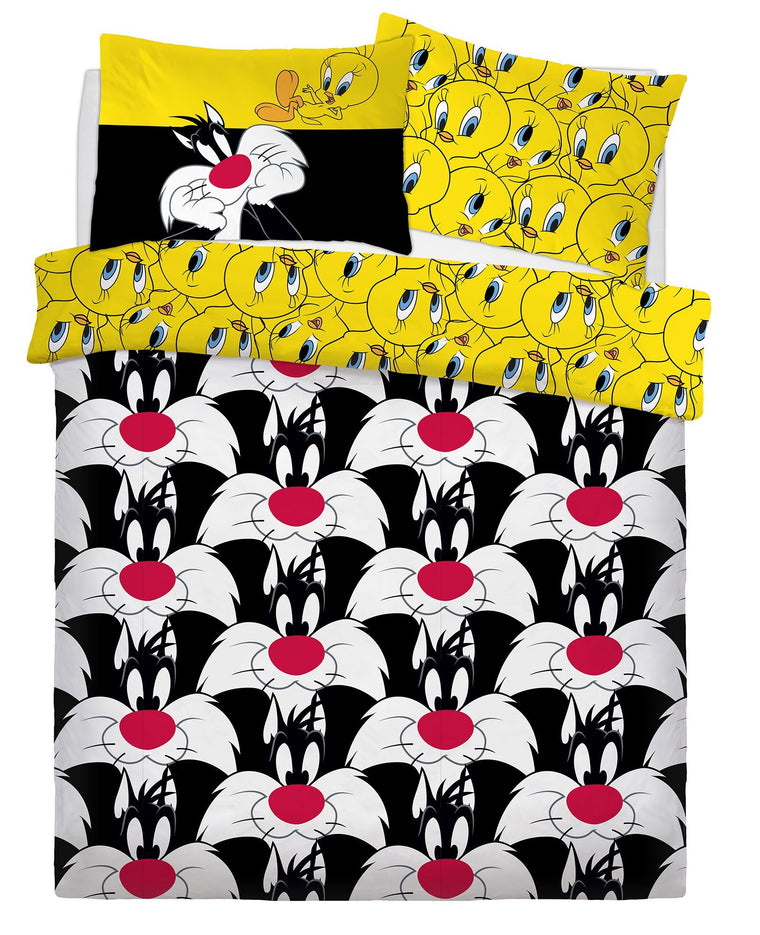 Sylvester & Tweety Bird Double Bedding