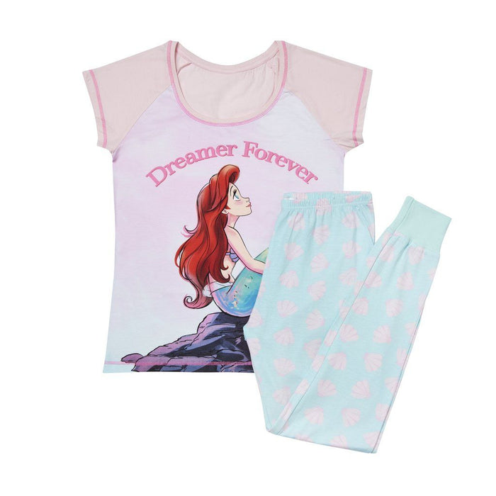 Women's Disney The Little Mermaid Pyjamas Womens Nightwear Disney