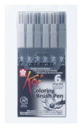SAKURA® Koi Coloring Brush Pen-Set #6