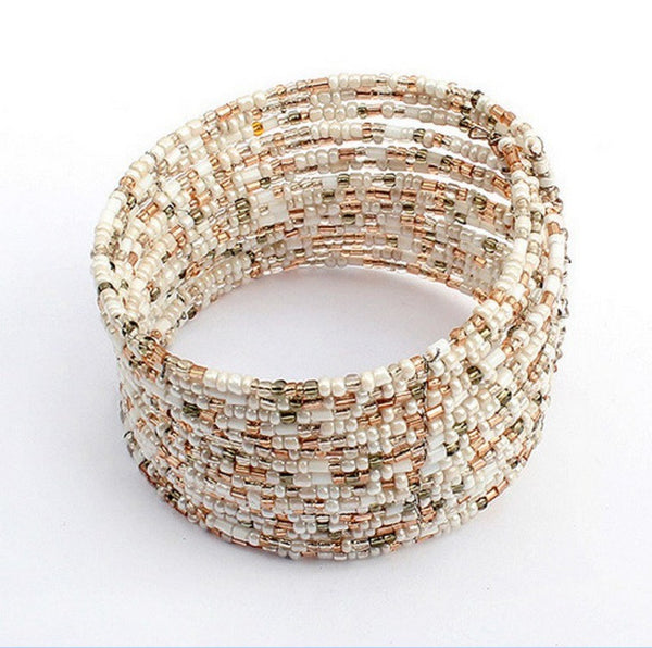 Hot Selling Bohemian Beads Multilayer Bangles Europe Refined Beaded Bracelet 3 Style - Gisselle Morales