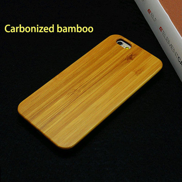 Genuine Wood Phone Cases For iPhone 5 5s SE 6 6s Plus 7 7 Plus Case Top Quality Rosewood bamboo Cherry Wooden Hard Cover Funda