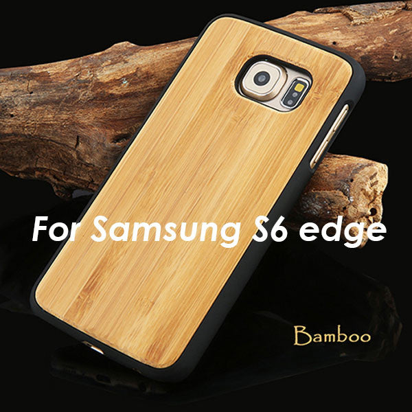 Real Wood Phone Cases For Samsung Galaxy S6 S6 edge Natural Rosewood Cherry Carbonized bamboo Wooden Case Hard PC Back Cover New - Gisselle Morales