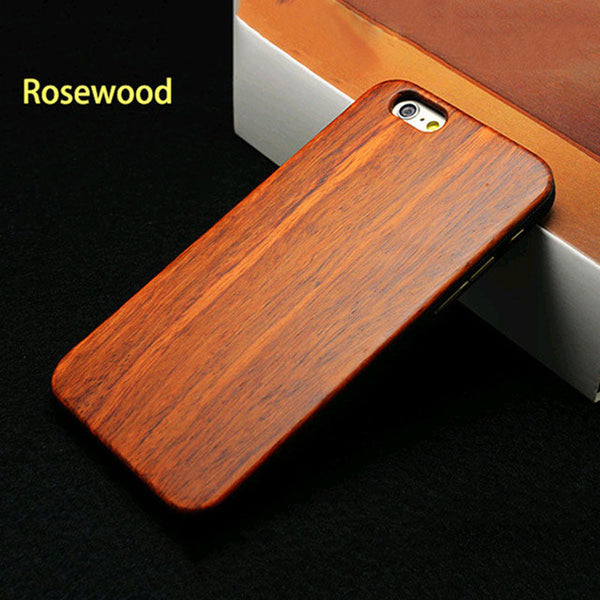 Wood Phone Cases for iPhone 5 5s SE 6 6s Plus 7 Plus Case Top Quality Genuine Bamboo Rosewood Walnut Wooden Hard PC Cover Funda - Gisselle Morales