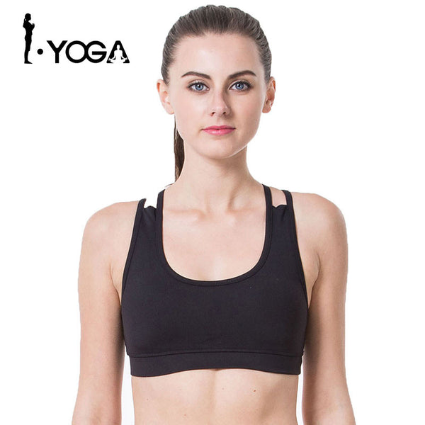 New Yoga Sports Bra Running Gym Fitness Seamless Push UP Tank Top Breathable Quick Dry Sports Bra For Girls