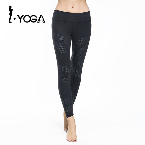Fitness Sports Leggings Running Yoga Pants Slim Fit Elastic Waist Spandex Breathable Quick Dry Tights Gym Sportswear
