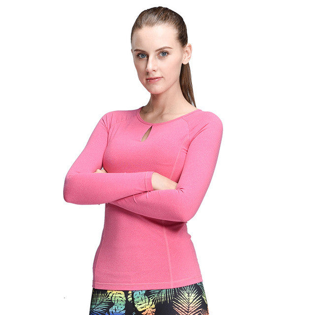 Boho Style Compression Sport T-Shirt Running Mujer Deportivas Woman FitnessT-Shirt Running Boho Style Clothes Long Sleeve Yoga Tops - Gisselle Morales