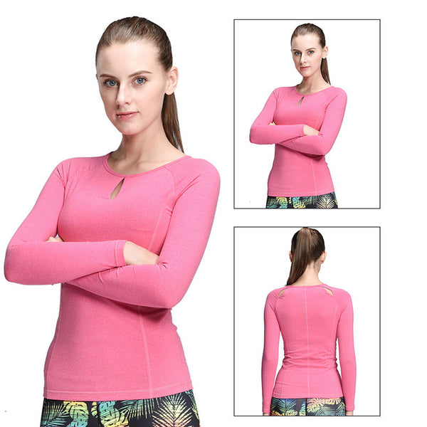 Boho Style Compression Sport T-Shirt Running Mujer Deportivas Woman FitnessT-Shirt Running Boho Style Clothes Long Sleeve Yoga Tops