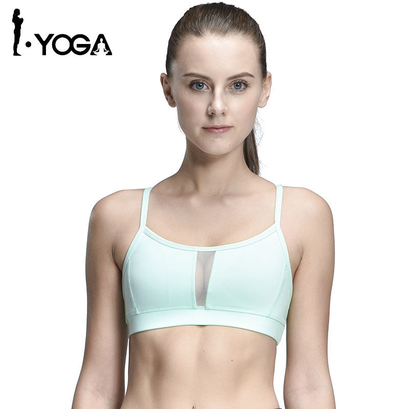 Sexy Fitness Boho Style Sports Tank Top Fitness Running Yoga Bra Back With Hollow Mesh Breathable Quick Dry Gym Yoga Vest