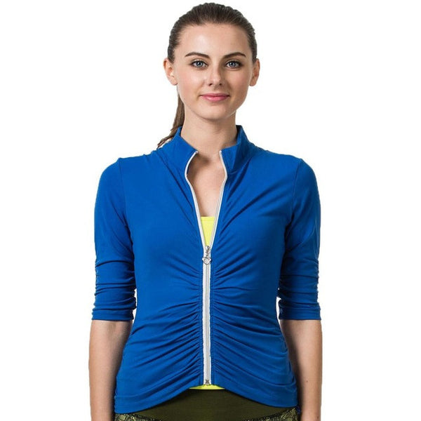 Boho Style Fitness Yoga Sports Jacket Winter Fitness Gym Sports Yoga Shirt Breathable Tights Vest Gym Running Tight Top Hot Sale