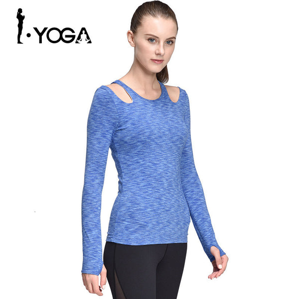 Boho Style Yoga Tops Compression T-Shirt Running Tights Woman Long Sleeve Running Clothes Long Sleeve Yoga Tops with Bra