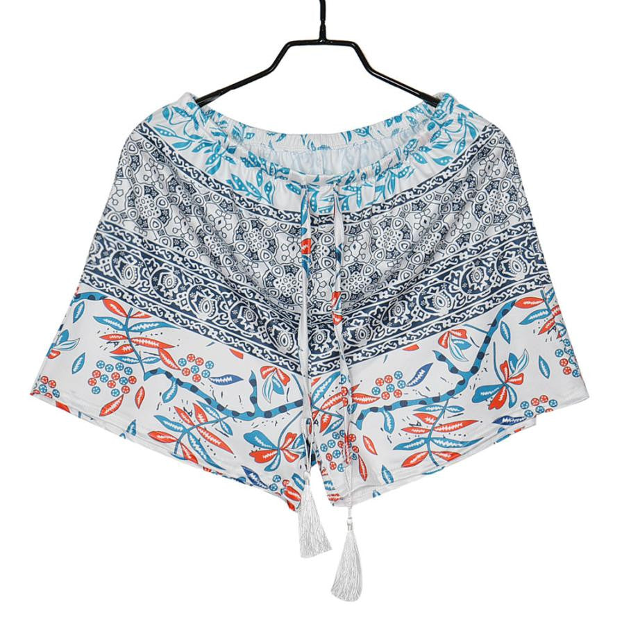 Floral High Waist Shorts (Plus Size)