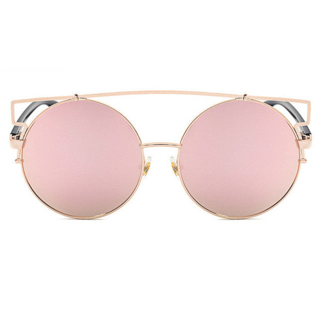ROYAL GIRL NEWEST Boho Style Double Wire Oversized Sun glasses Big Round Bohemian Vintage Sunglasses ss180