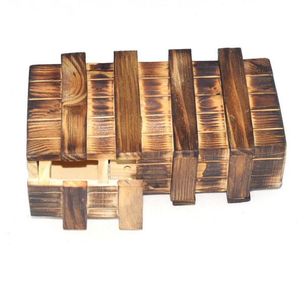 Natural Wooden 3d Puzzle with Secret CompartBoho Stylet - Gisselle Morales
