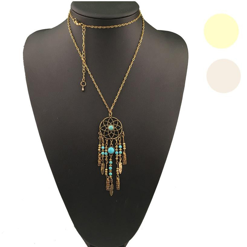 Boho Style necklace kolye colar Bohemian Ethnic Merry Dreamcatcher jewelry Dreamcatcher vintage Necklace Alloy vintage ornaBoho Styletation - Gisselle Morales