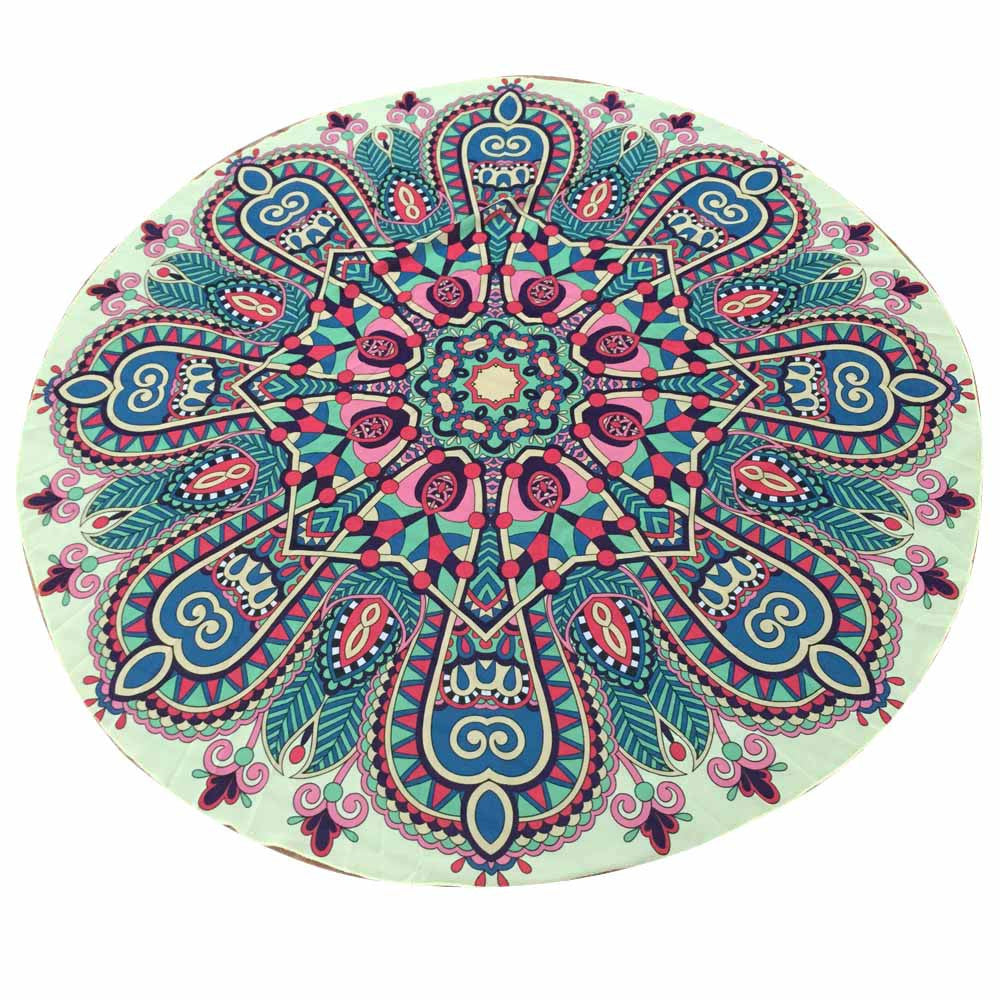 Women  Round Chiffon Tapestry Beach Throw Towel Yoga Mat  for women#20 - Gisselle Morales