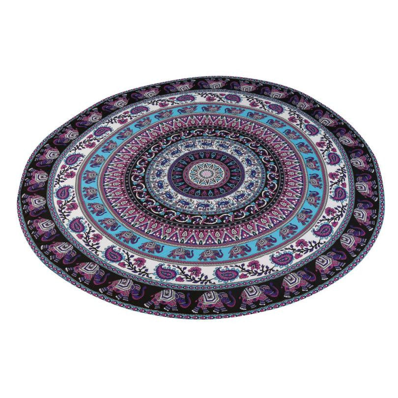 150cm Round Beach Towel Yoga Mat Mandala Blanket Cover Up - Gisselle Morales