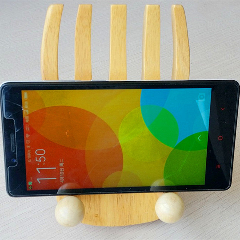 Wooden Mobile Phone Stents - Gisselle Morales