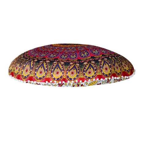80*80cm home decorative throw pillow Mandala Floor Pillows Round Bohemian Meditation Cover - Gisselle Morales