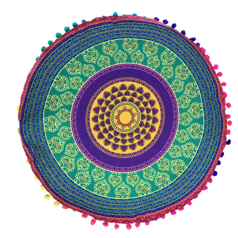 home decorative throw pillow Mandala Floor Pillows Round Bohemian Meditation Cover