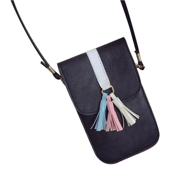 Xiniu Solid Shoulder Bags Universal Mobile Phone Bag Pocket Case Boho Style Bags portefeuille femme LREW - Gisselle Morales