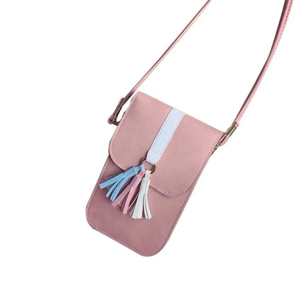 Xiniu Solid Shoulder Bags Universal Mobile Phone Bag Pocket Case Boho Style Bags portefeuille femme LREW