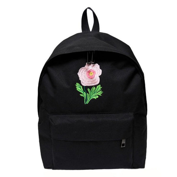 Xiniu fashion Boho Style backpack leather school bags Rose Vintage Canvas Backpack Satchel Rucksack Travel School Bag 5M - Gisselle Morales