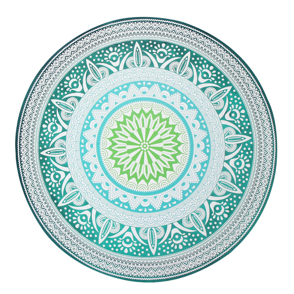 Indian Printed Green and Teal Mandala Wall Decor - Gisselle Morales