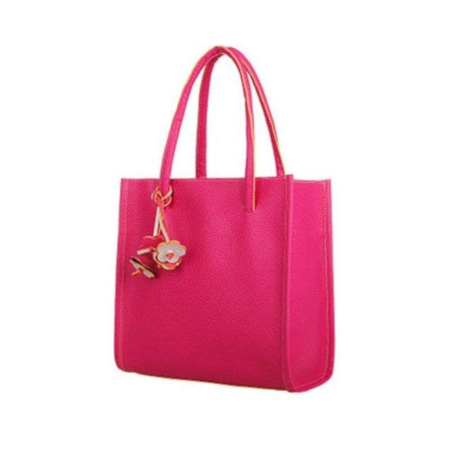Xiniu shoulder bag Elegant leather candy color tote bag GHEL - Gisselle Morales