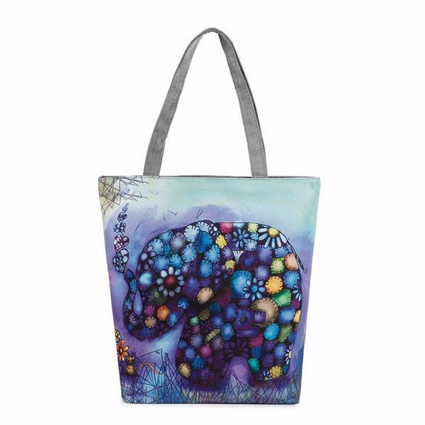 Xiniu Bags Elephant Print Canvas Tote Casual Beach Bags bolso elefante Messenger Bags feminina para mujer YHEW - Gisselle Morales