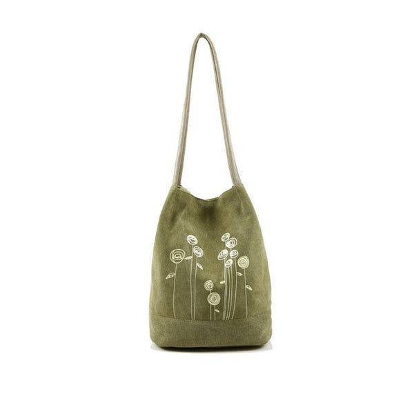 Boho Style Bag Canvas Floral Tote Messenger Bags Boho Style Shoulder Bag Ladies Bucket bolsa feminina para mujer 25