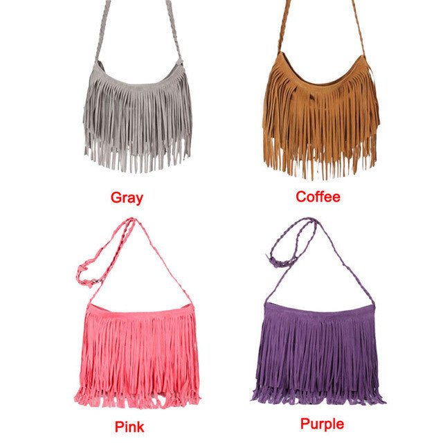 Vogue Star Boho Style messenger bags handbags famous brands fringe tassel bag female bolsas de marca fashion cross body bag - Gisselle Morales