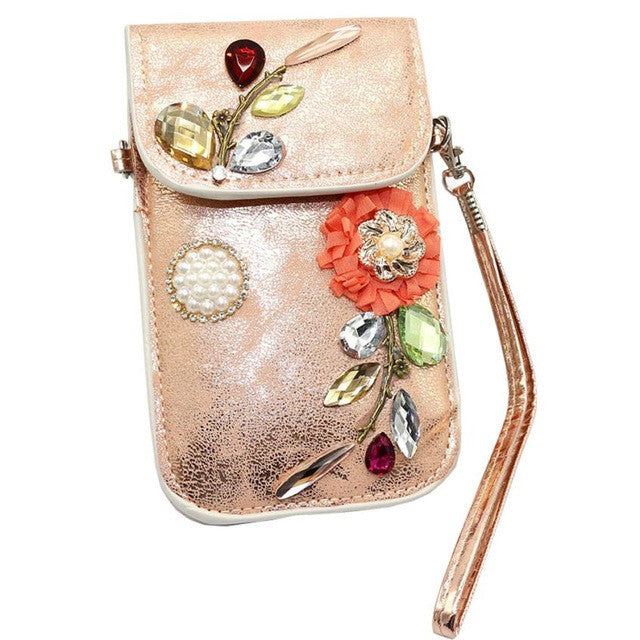 leather bags Boho Style Mobile Phone Bag Clutch Purse crystal Female crossbody bags for Boho Style bao bao LRYW - Gisselle Morales