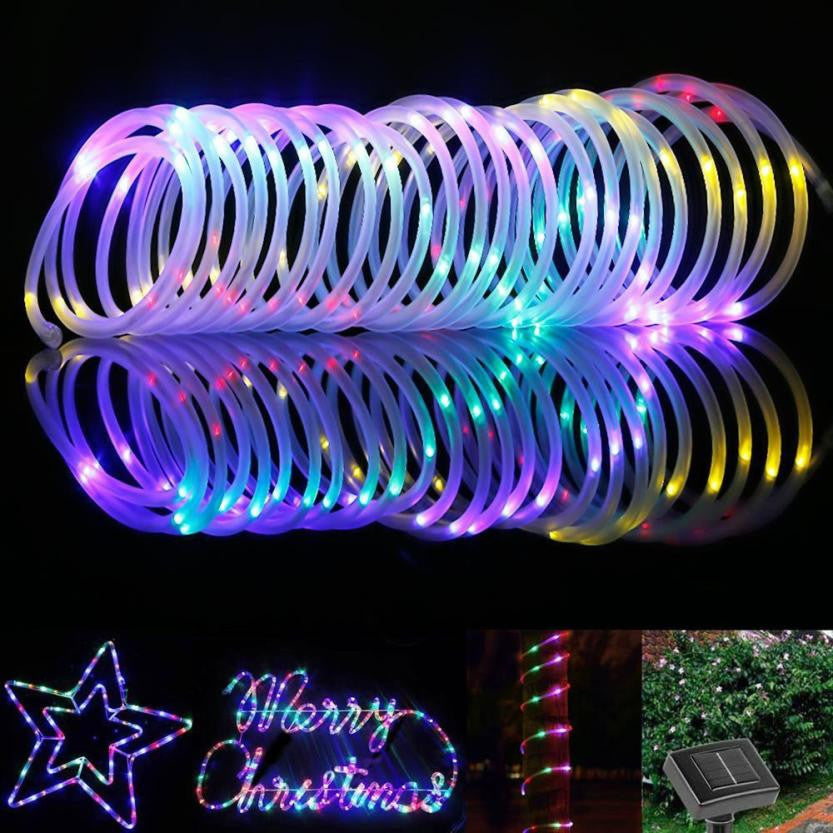 50 LED Waterproof Solar Rotatable Outdoor Garden Camping LED Lamp Hose Lights - Gisselle Morales