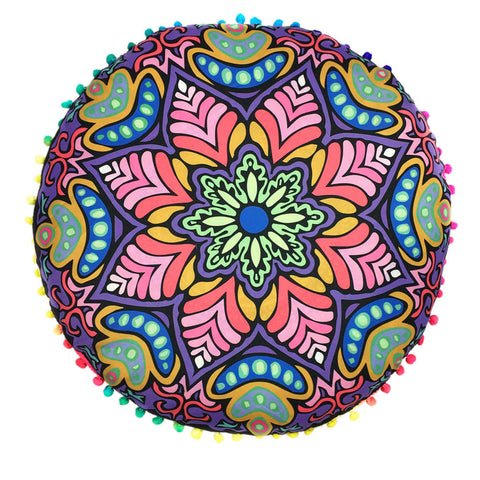 Indian Mandala Floor Pillows Round Bohemian printed Pillows Cover Case serviette de plage