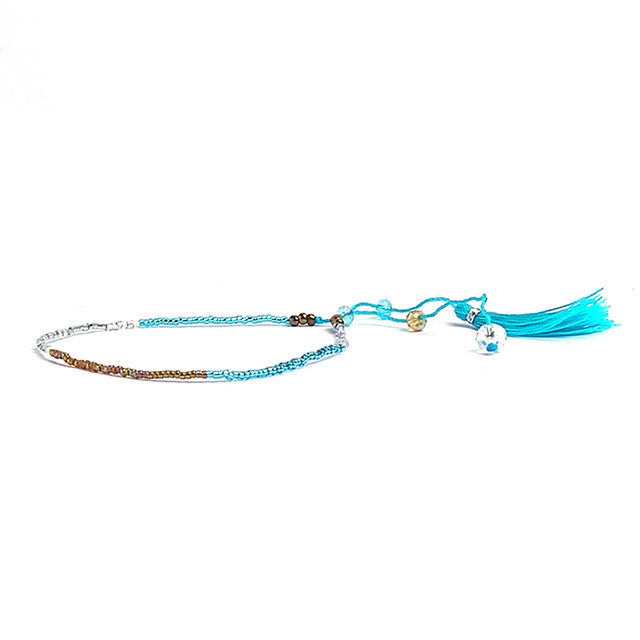 Summer Handmade Tassel Colourful Boho Style Seed Beads Friendship Bracelet Fashion Tassels Beach Bohemian Bracelets For Boho Style - Gisselle Morales