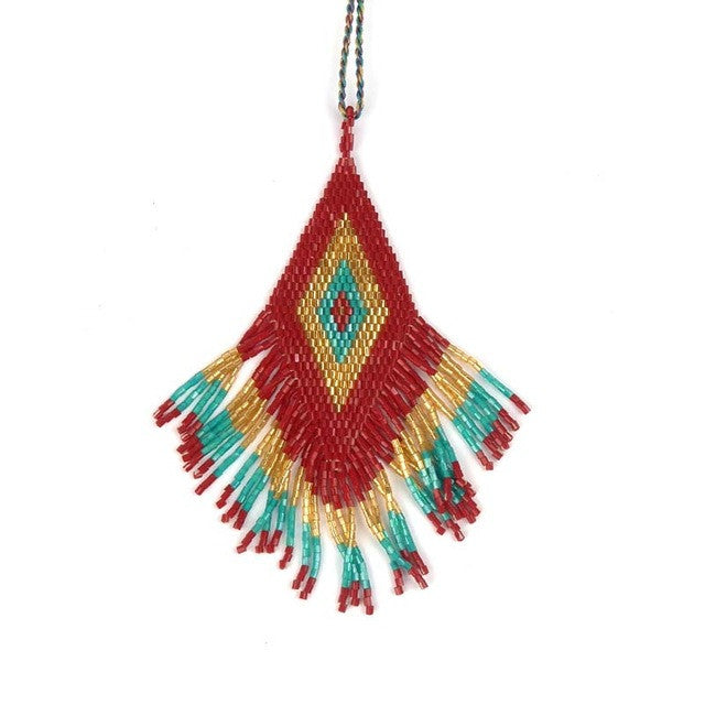 Handmade Necklace Pendant Rope Chain Boho Long Bohemian Tassel