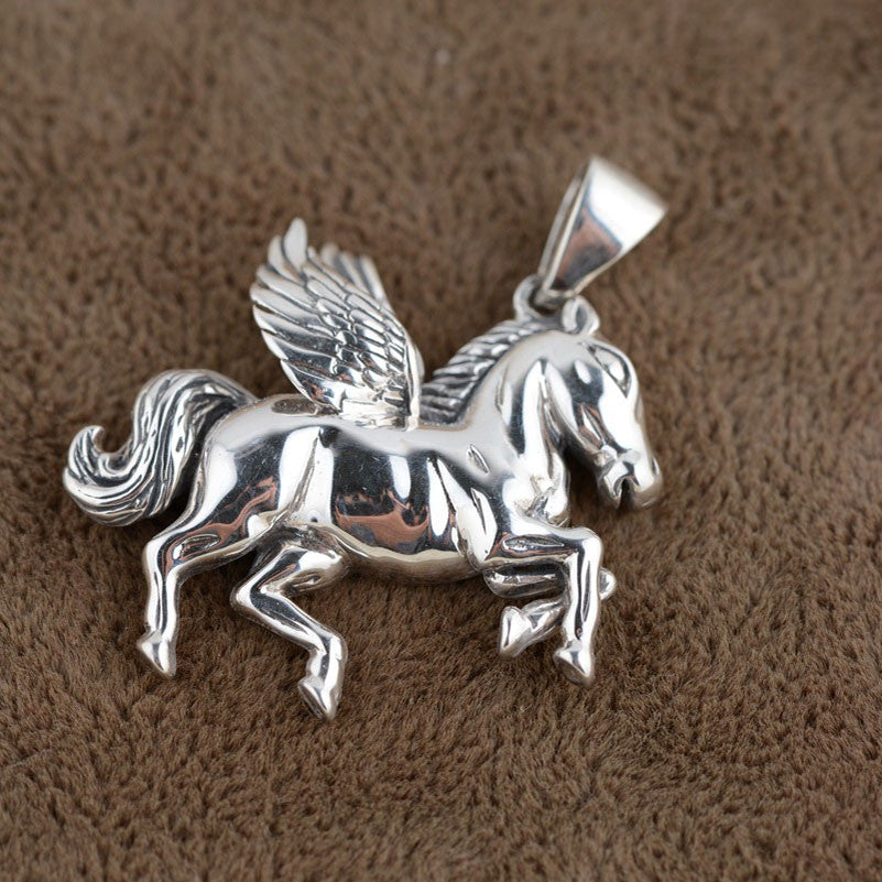 925 Sterling Silver Horse Pendant lapis lazuli S925 Solid Thai Silver Pendants Pendant Women Jewelry - Gisselle Morales